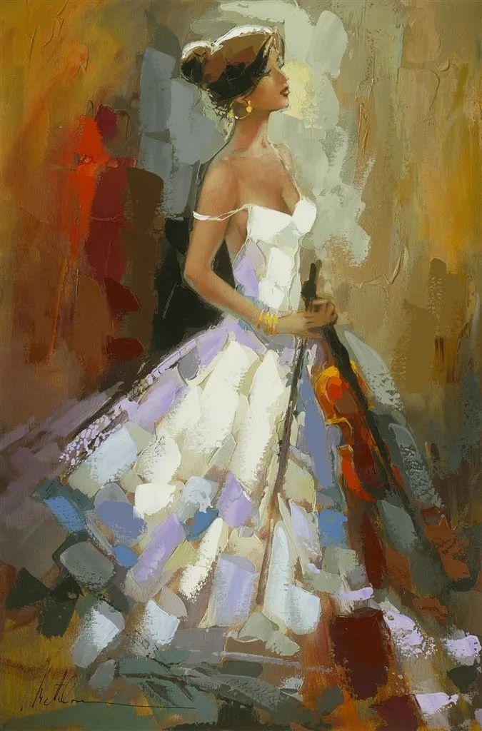 捕捉舞者的瞬间,色彩丰富表现力强!乌克兰画家阿纳托利·梅特兰插图53