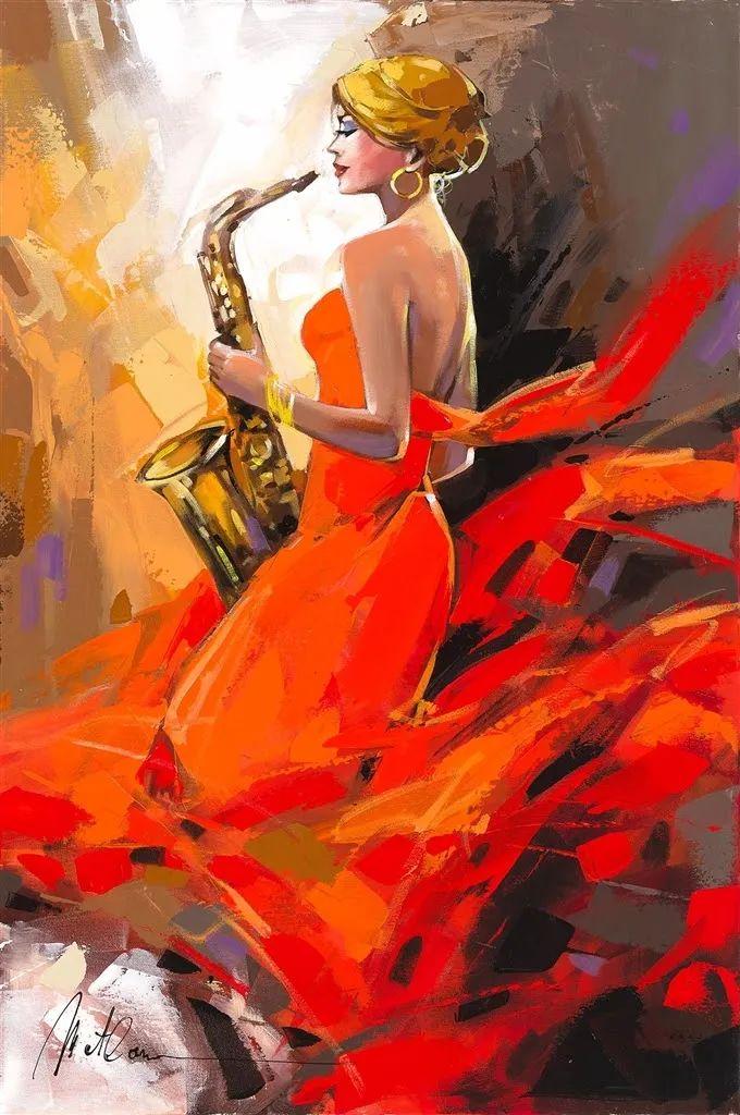 捕捉舞者的瞬间,色彩丰富表现力强!乌克兰画家阿纳托利·梅特兰插图55