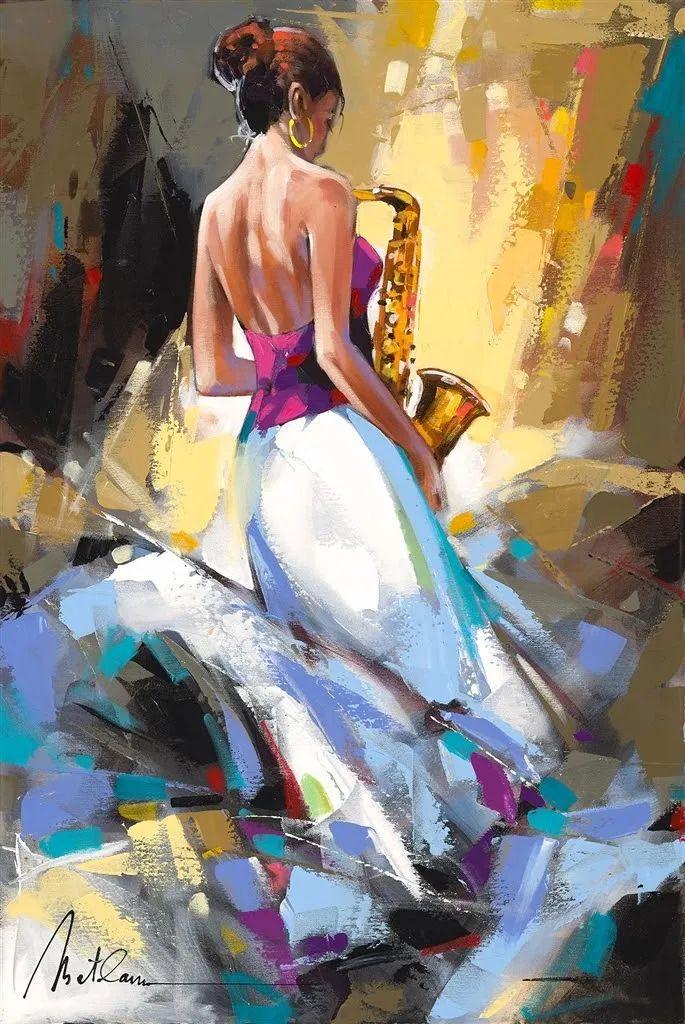 捕捉舞者的瞬间,色彩丰富表现力强!乌克兰画家阿纳托利·梅特兰插图59