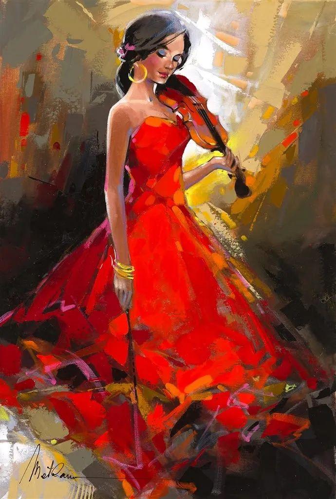 捕捉舞者的瞬间,色彩丰富表现力强!乌克兰画家阿纳托利·梅特兰插图63