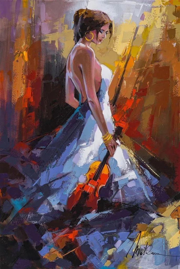 捕捉舞者的瞬间,色彩丰富表现力强!乌克兰画家阿纳托利·梅特兰插图67
