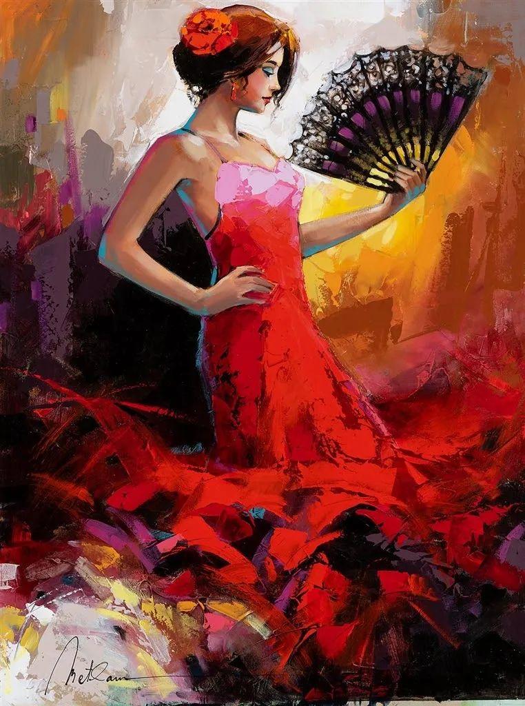捕捉舞者的瞬间,色彩丰富表现力强!乌克兰画家阿纳托利·梅特兰插图69