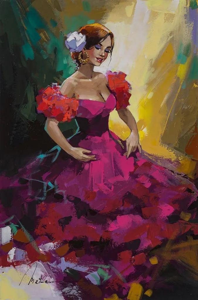 捕捉舞者的瞬间,色彩丰富表现力强!乌克兰画家阿纳托利·梅特兰插图79