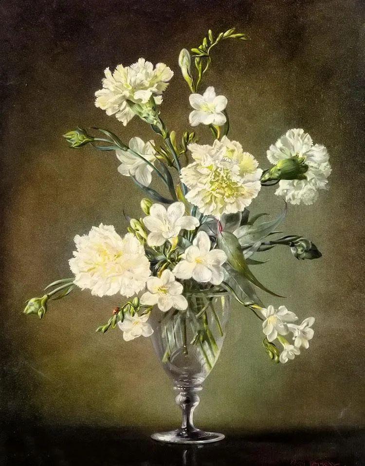英国最伟大的花卉画家之一,艺术家塞西尔·肯尼迪插图1