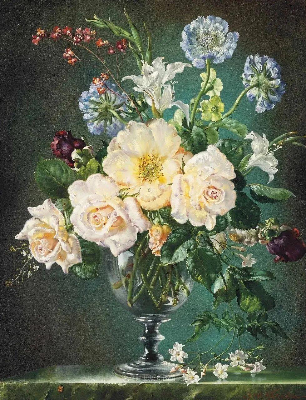 英国最伟大的花卉画家之一,艺术家塞西尔·肯尼迪插图9