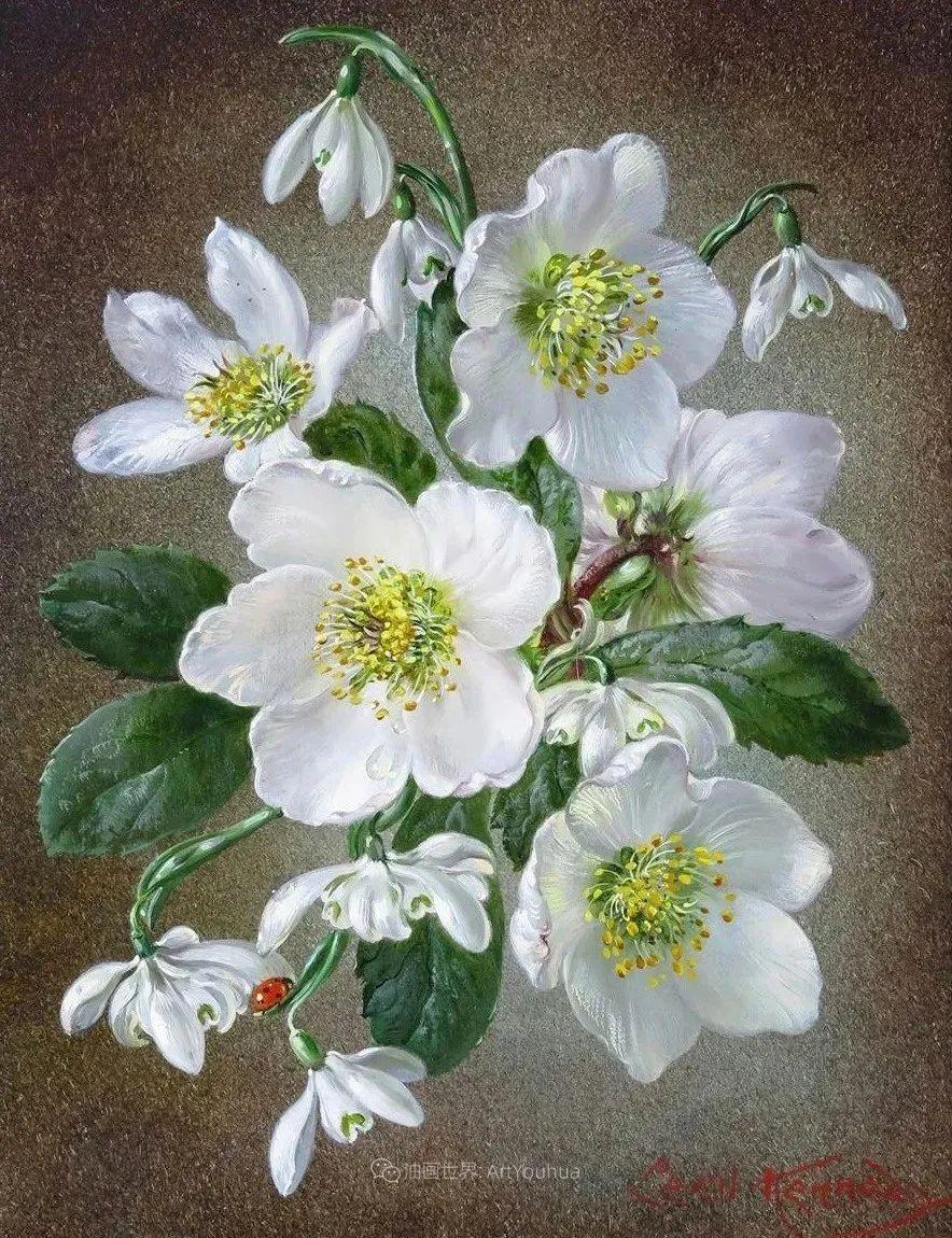 英国最伟大的花卉画家之一,艺术家塞西尔·肯尼迪插图17