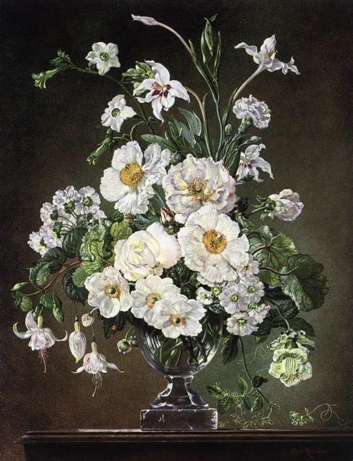 英国最伟大的花卉画家之一,艺术家塞西尔·肯尼迪插图19