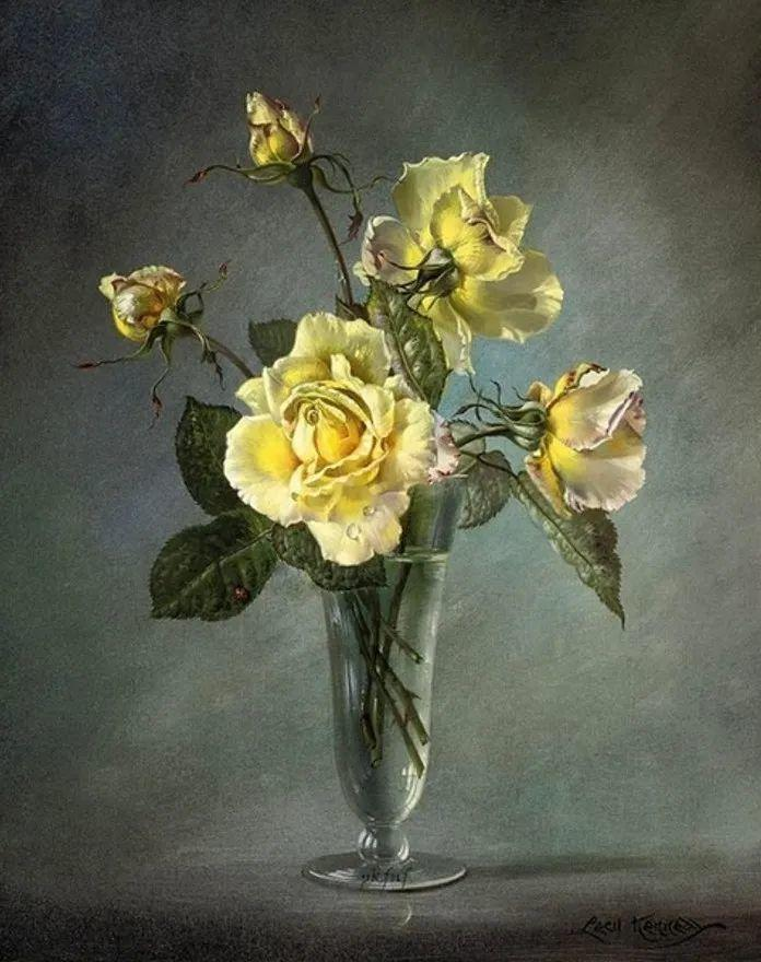 英国最伟大的花卉画家之一,艺术家塞西尔·肯尼迪插图61