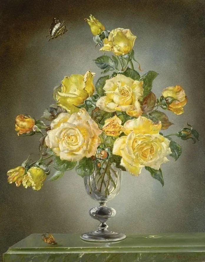 英国最伟大的花卉画家之一,艺术家塞西尔·肯尼迪插图63