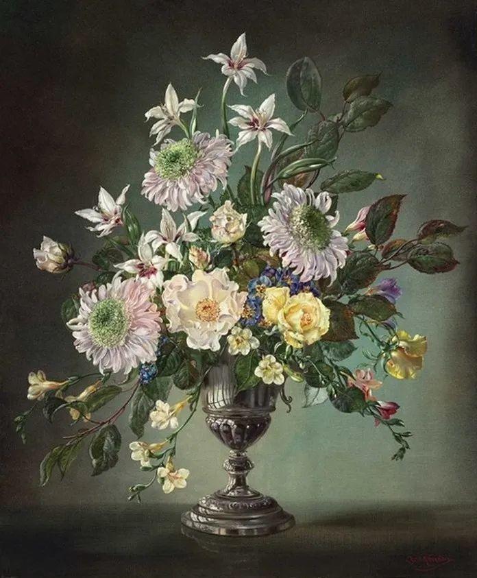 英国最伟大的花卉画家之一,艺术家塞西尔·肯尼迪插图85