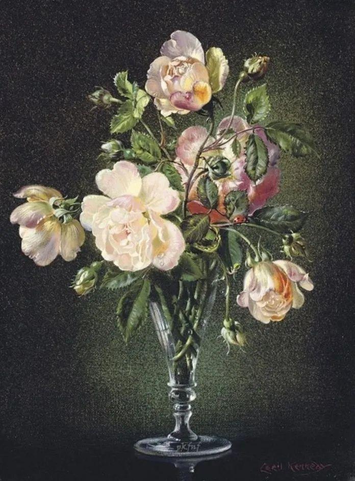 英国最伟大的花卉画家之一,艺术家塞西尔·肯尼迪插图89