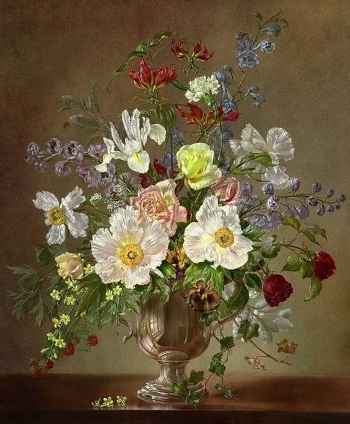 英国最伟大的花卉画家之一,艺术家塞西尔·肯尼迪插图91
