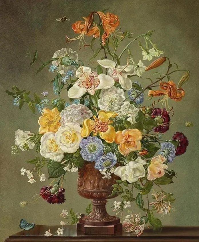 英国最伟大的花卉画家之一,艺术家塞西尔·肯尼迪插图93