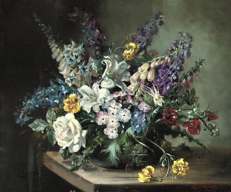 英国最伟大的花卉画家之一,艺术家塞西尔·肯尼迪插图103
