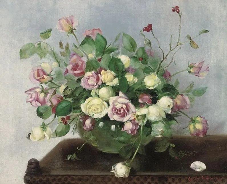英国最伟大的花卉画家之一,艺术家塞西尔·肯尼迪插图117