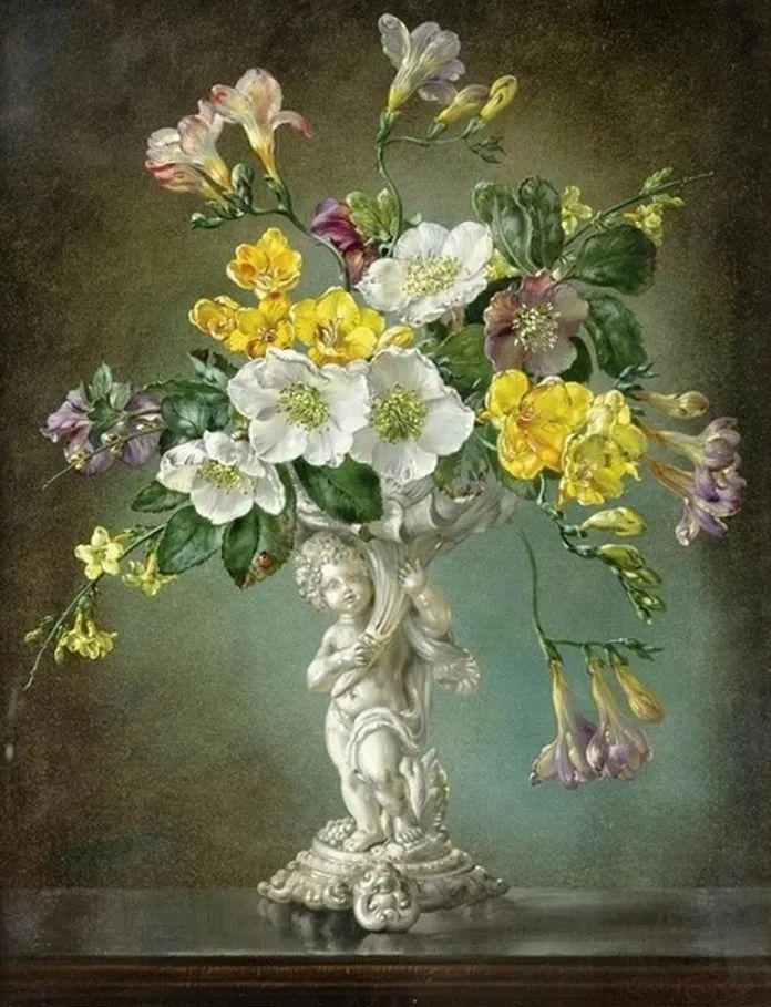 英国最伟大的花卉画家之一,艺术家塞西尔·肯尼迪插图121
