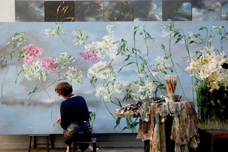 与花为邻,与草木为伍,她的画室充满大自然的灵气插图3