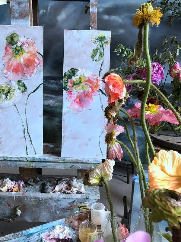 与花为邻,与草木为伍,她的画室充满大自然的灵气插图41