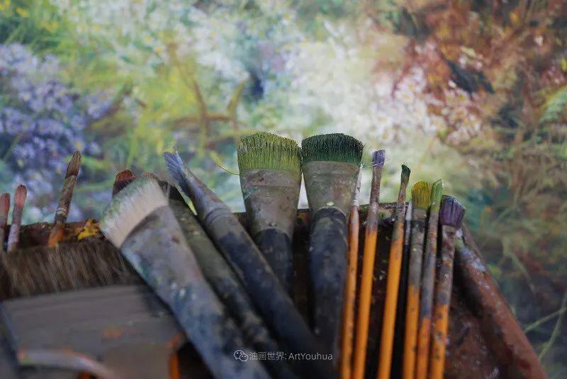 与花为邻,与草木为伍,她的画室充满大自然的灵气插图47
