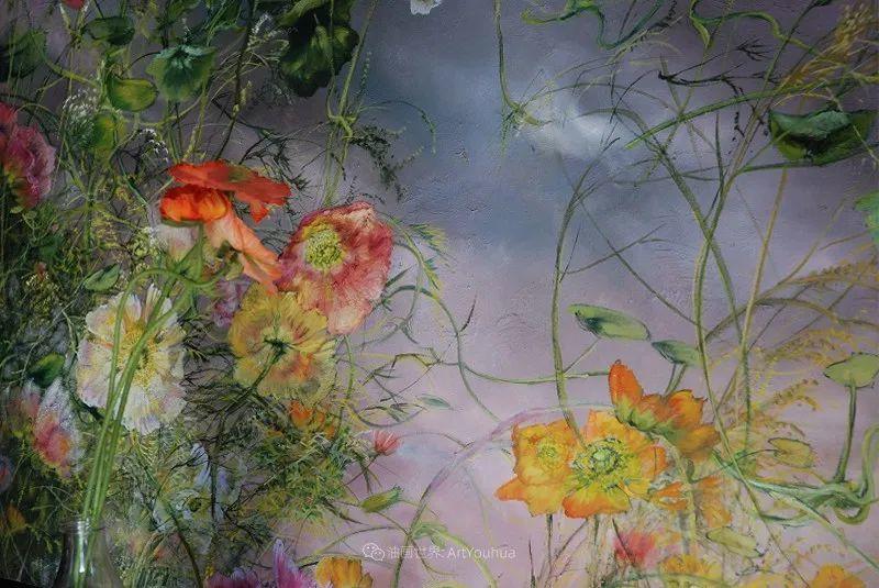 与花为邻,与草木为伍,她的画室充满大自然的灵气插图51