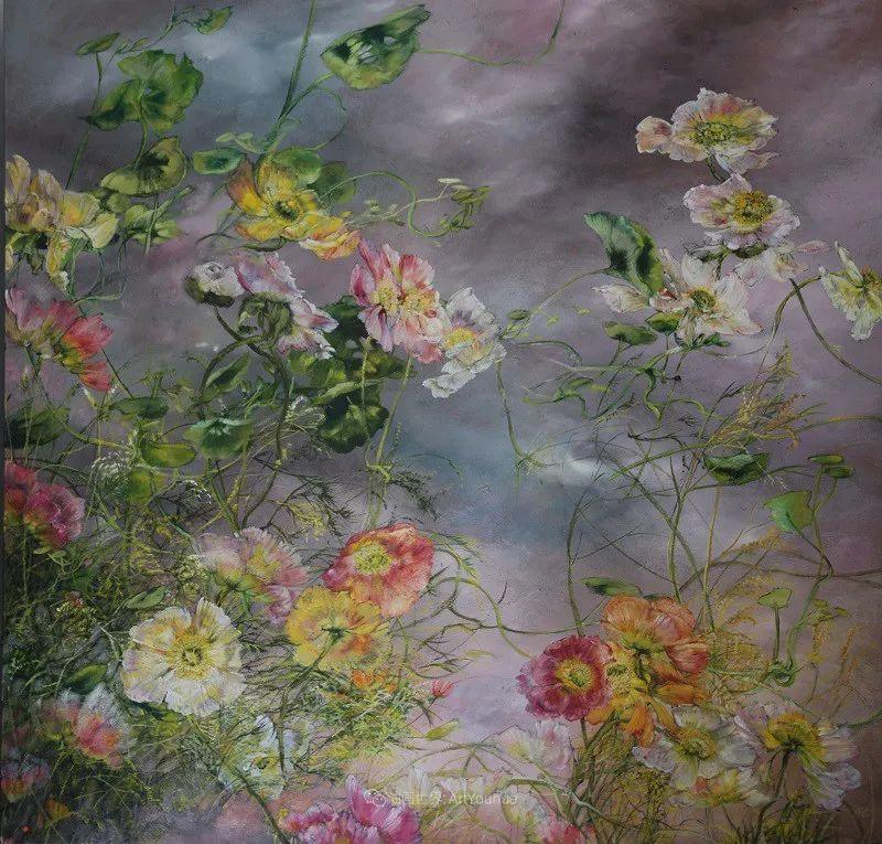 与花为邻,与草木为伍,她的画室充满大自然的灵气插图53
