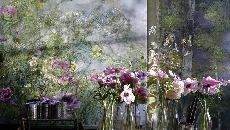 与花为邻,与草木为伍,她的画室充满大自然的灵气插图55