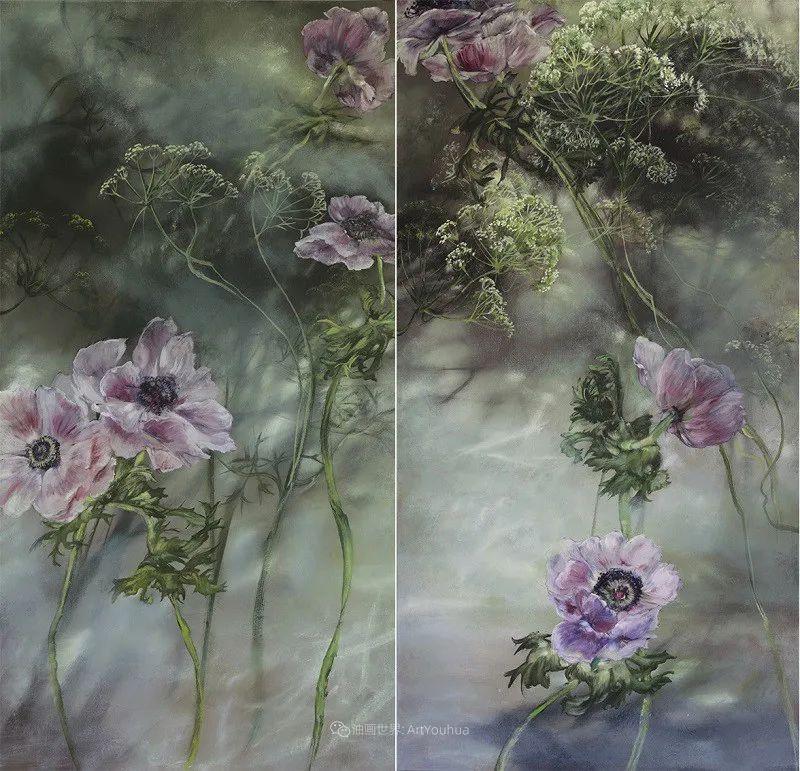 与花为邻,与草木为伍,她的画室充满大自然的灵气插图57