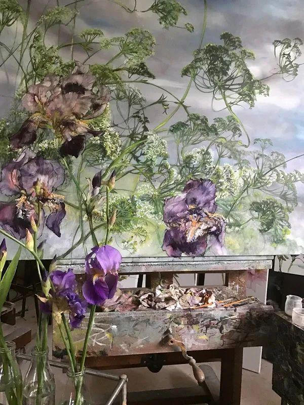 与花为邻,与草木为伍,她的画室充满大自然的灵气插图61