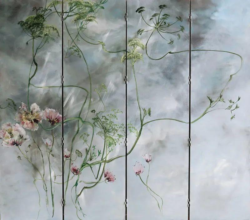 与花为邻,与草木为伍,她的画室充满大自然的灵气插图73