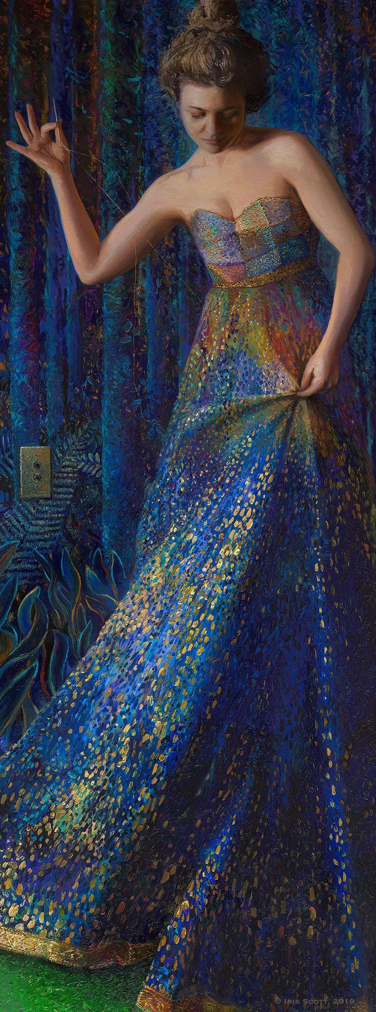 用颜料触摸这个世界!美国画家Iris Scott画选(下)——人物街景篇插图3