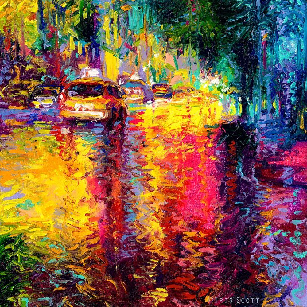 用颜料触摸这个世界!美国画家Iris Scott画选(下)——人物街景篇插图11