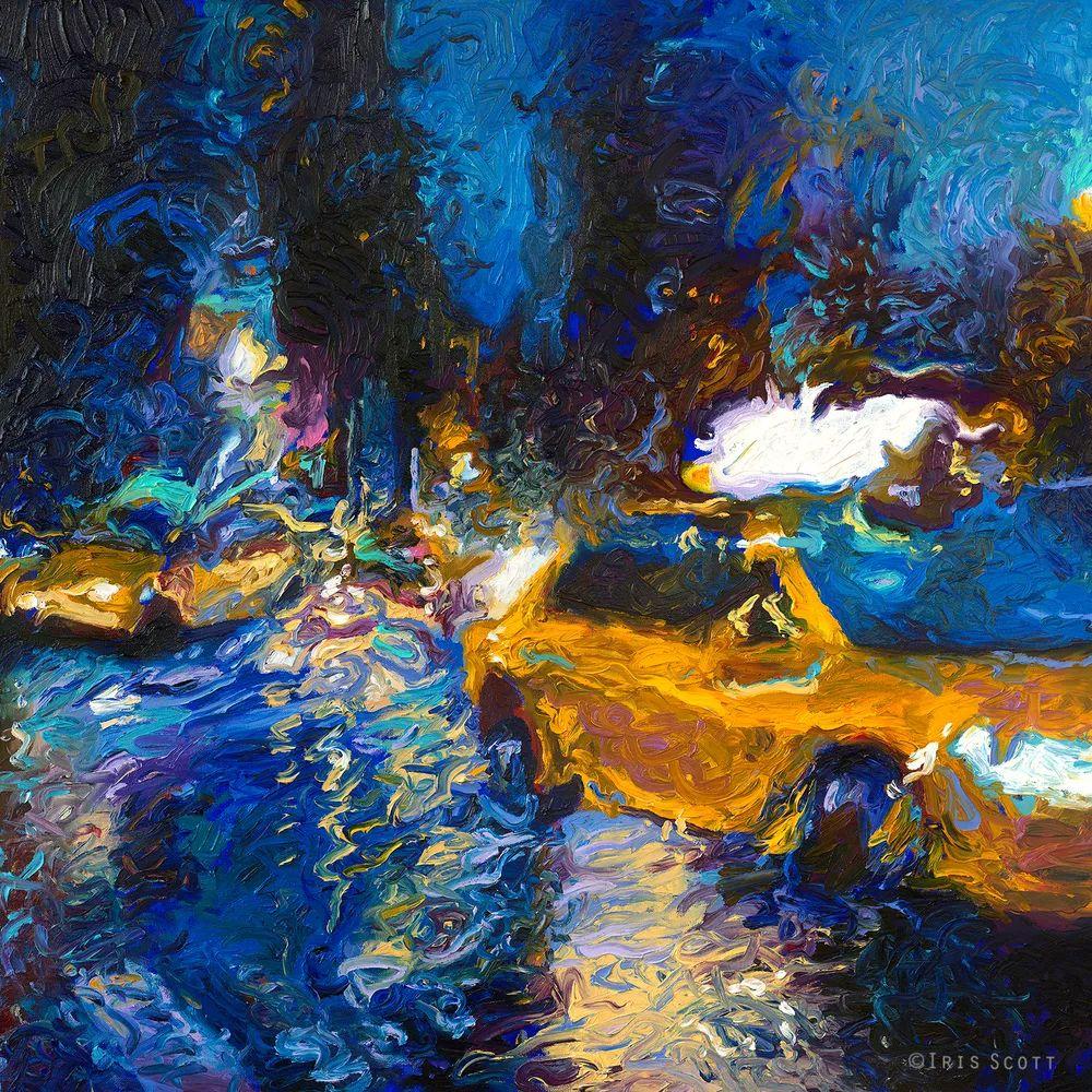 用颜料触摸这个世界!美国画家Iris Scott画选(下)——人物街景篇插图13