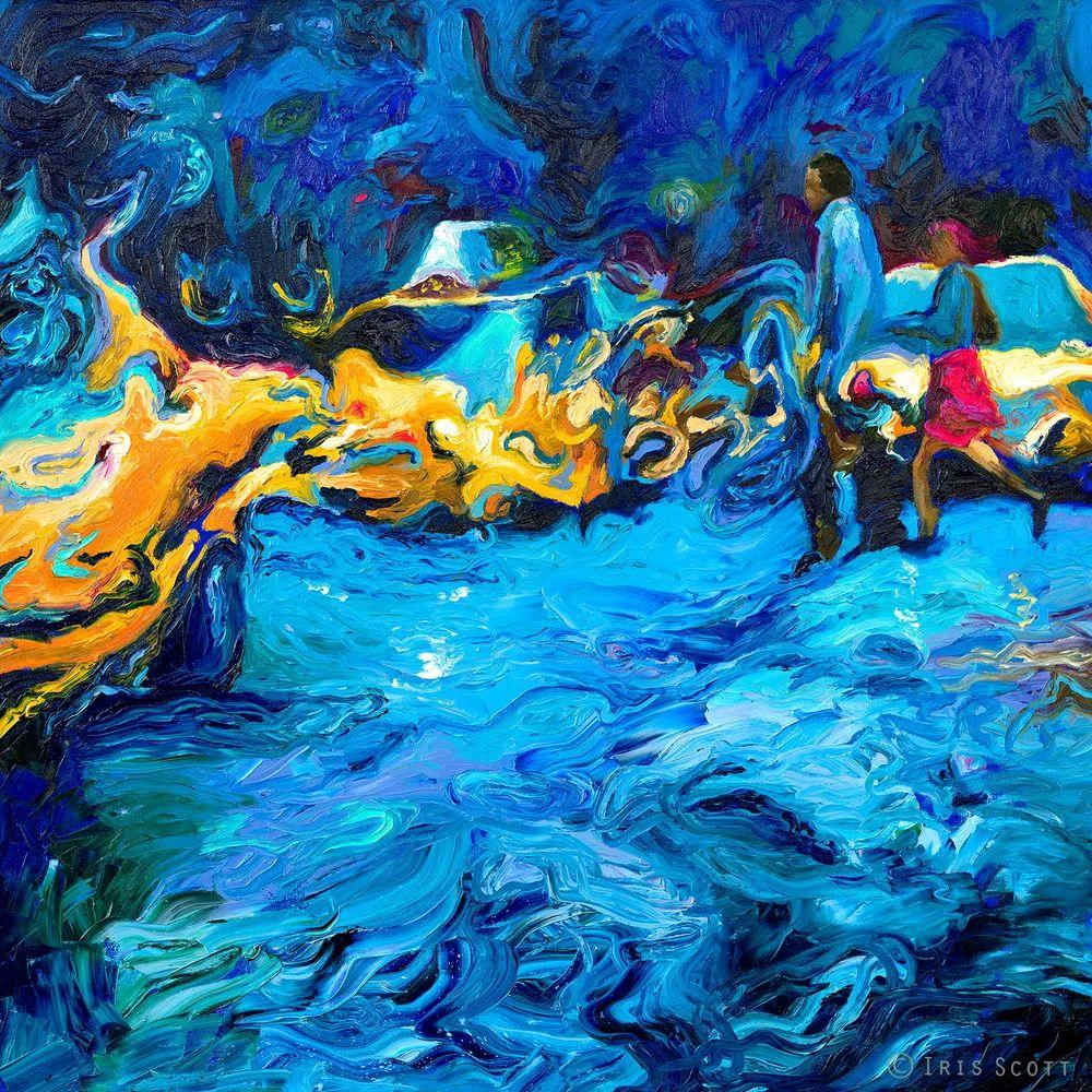 用颜料触摸这个世界!美国画家Iris Scott画选(下)——人物街景篇插图15