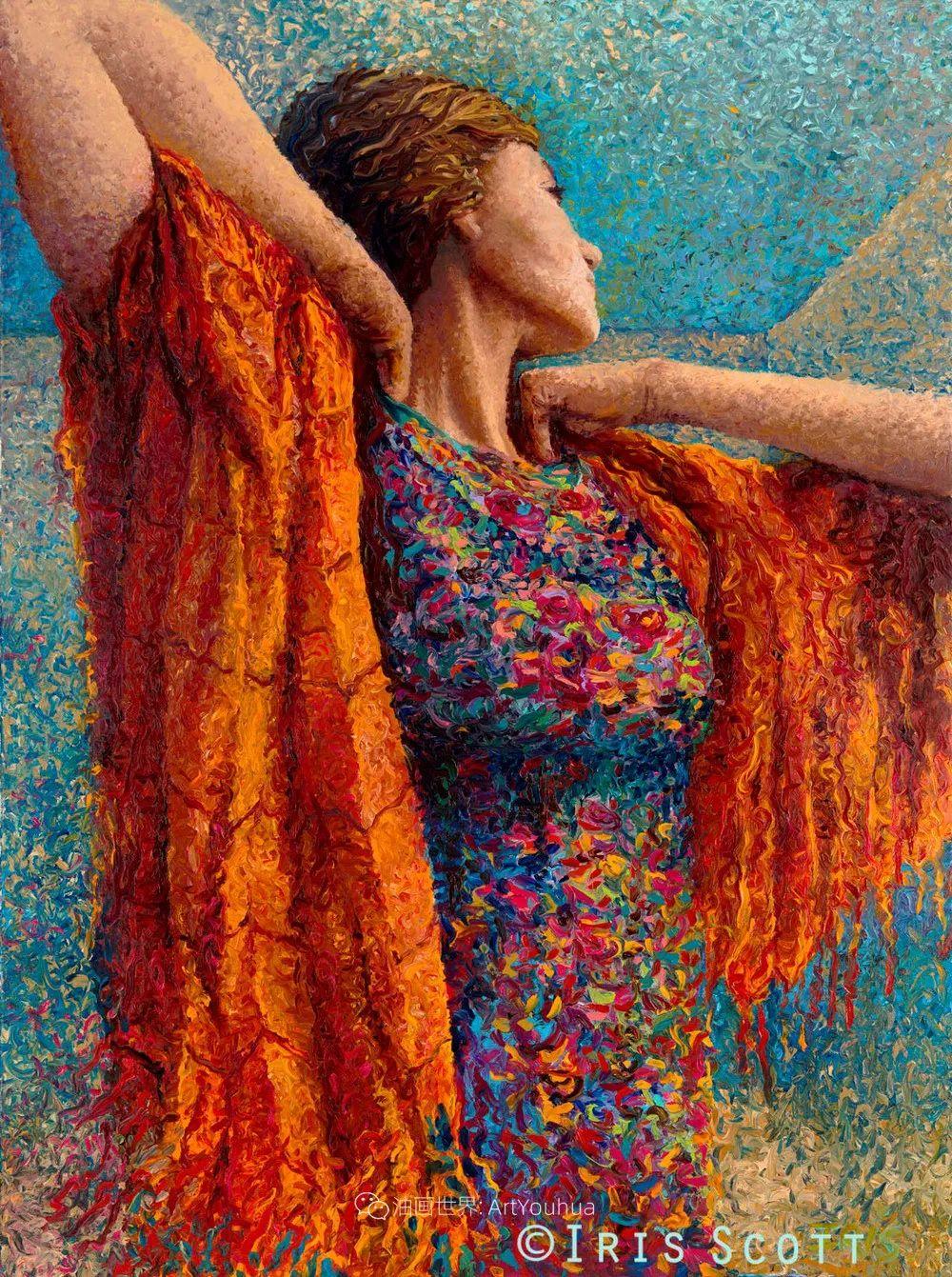 用颜料触摸这个世界!美国画家Iris Scott画选(下)——人物街景篇插图17