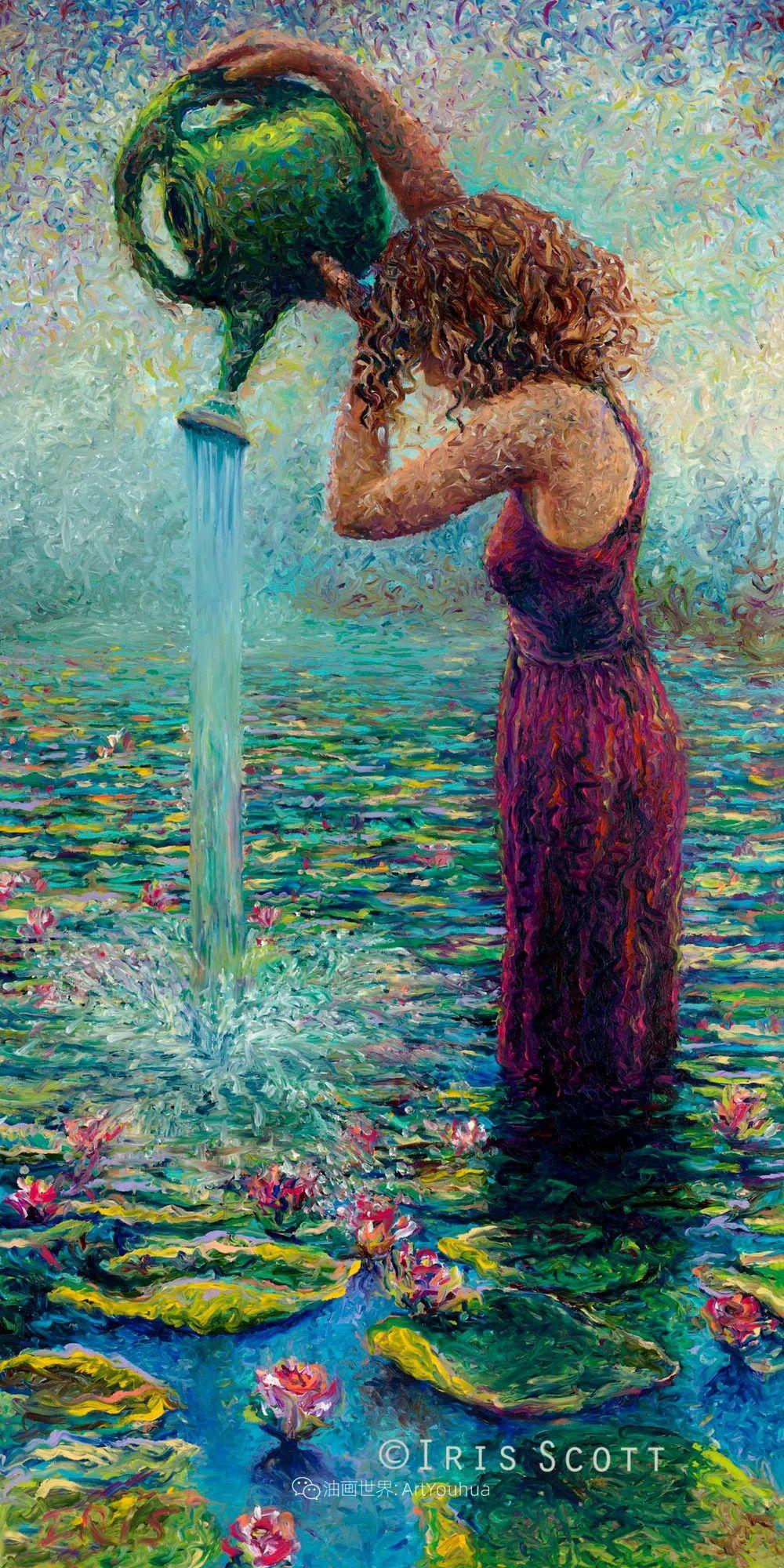 用颜料触摸这个世界!美国画家Iris Scott画选(下)——人物街景篇插图23