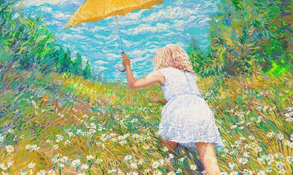 用颜料触摸这个世界!美国画家Iris Scott画选(下)——人物街景篇插图27