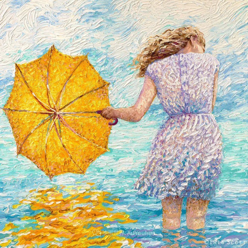 用颜料触摸这个世界!美国画家Iris Scott画选(下)——人物街景篇插图29