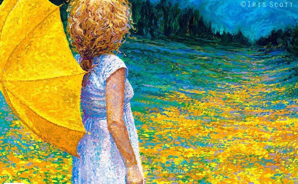 用颜料触摸这个世界!美国画家Iris Scott画选(下)——人物街景篇插图31