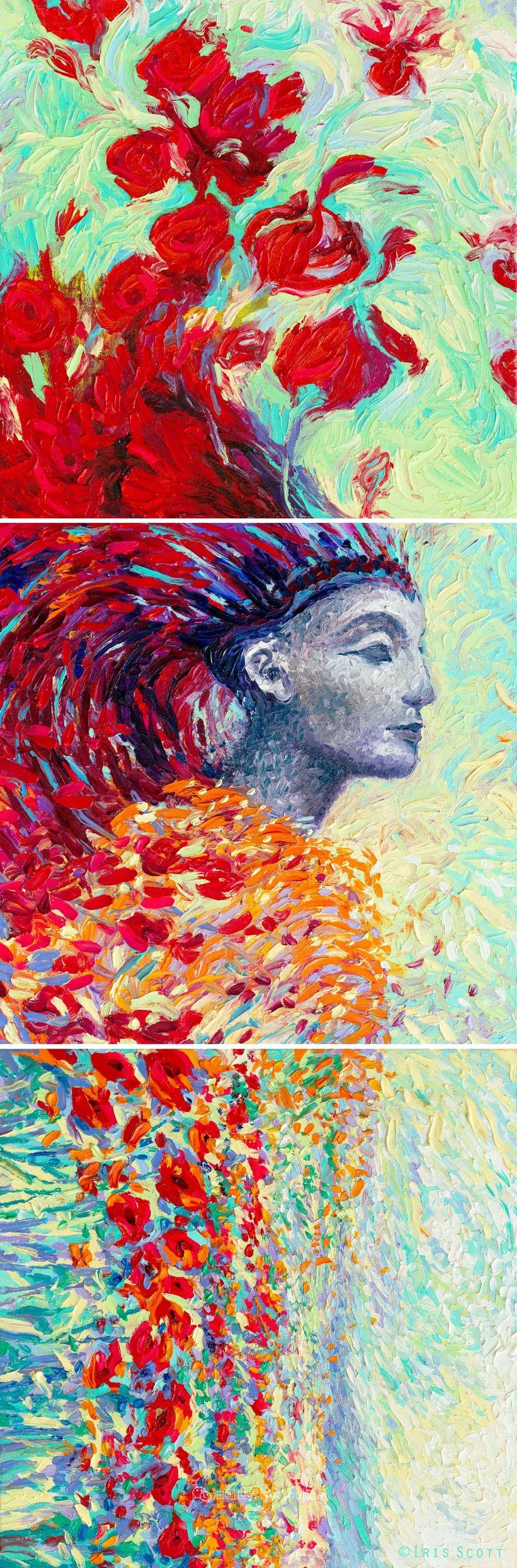 用颜料触摸这个世界!美国画家Iris Scott画选(下)——人物街景篇插图37
