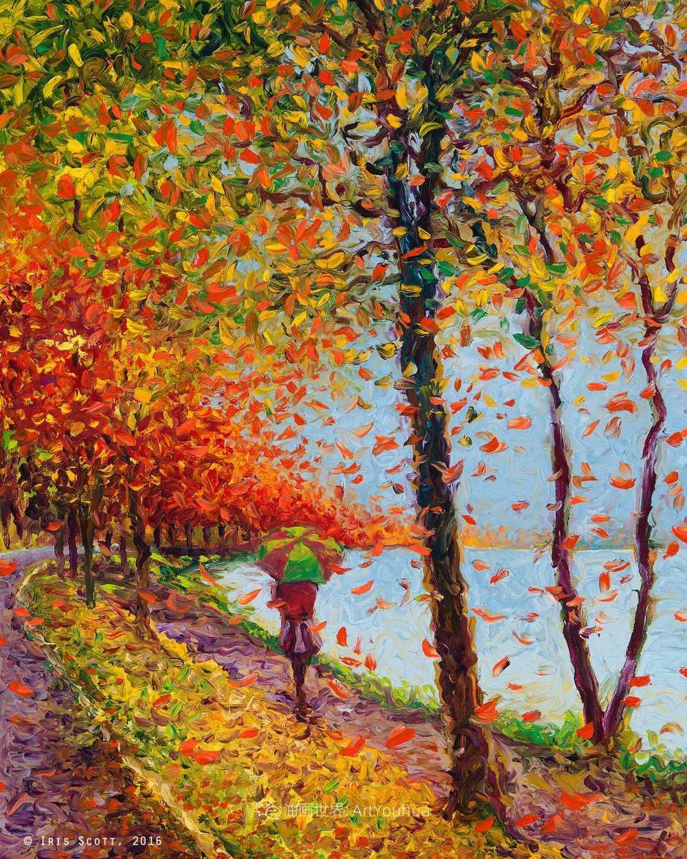 用颜料触摸这个世界!美国画家Iris Scott画选(下)——人物街景篇插图39