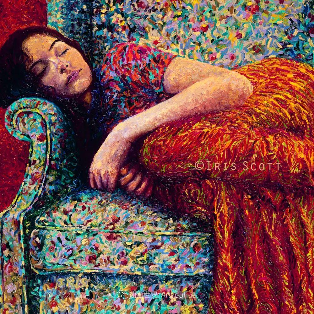 用颜料触摸这个世界!美国画家Iris Scott画选(下)——人物街景篇插图41