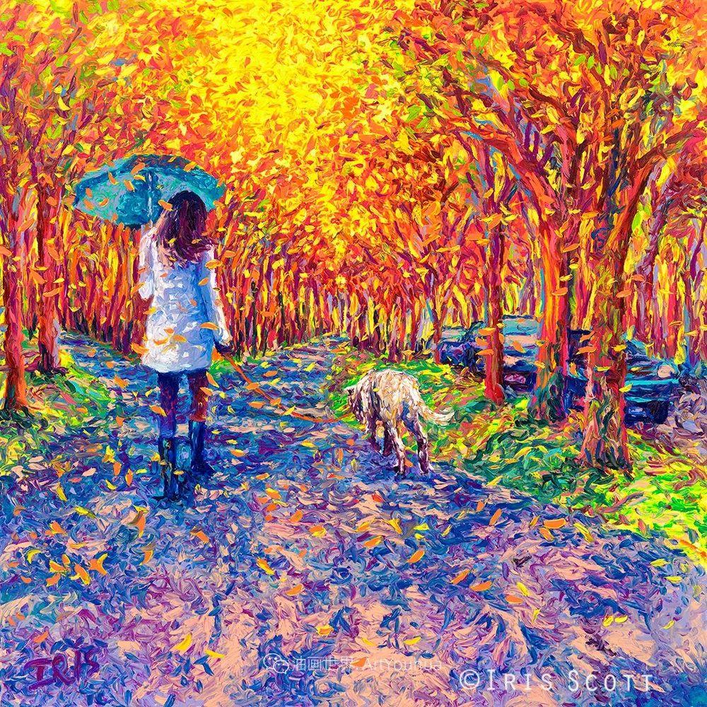 用颜料触摸这个世界!美国画家Iris Scott画选(下)——人物街景篇插图43