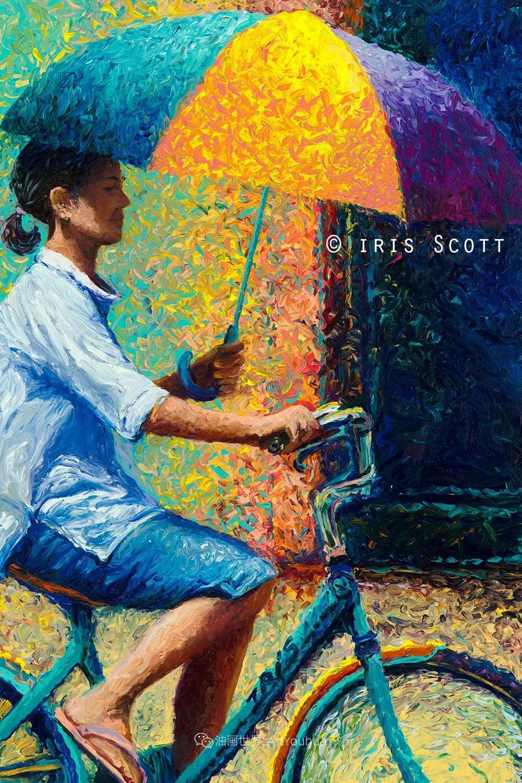 用颜料触摸这个世界!美国画家Iris Scott画选(下)——人物街景篇插图47