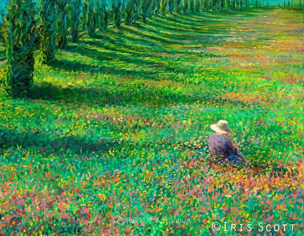 用颜料触摸这个世界!美国画家Iris Scott画选(下)——人物街景篇插图51