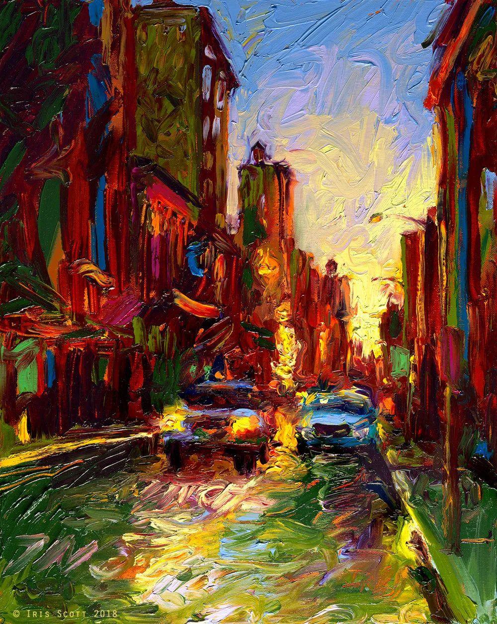 用颜料触摸这个世界!美国画家Iris Scott画选(下)——人物街景篇插图53