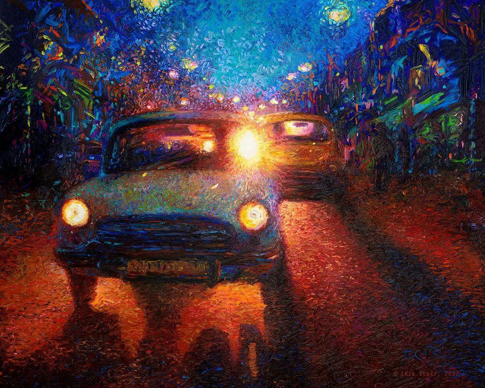 用颜料触摸这个世界!美国画家Iris Scott画选(下)——人物街景篇插图55
