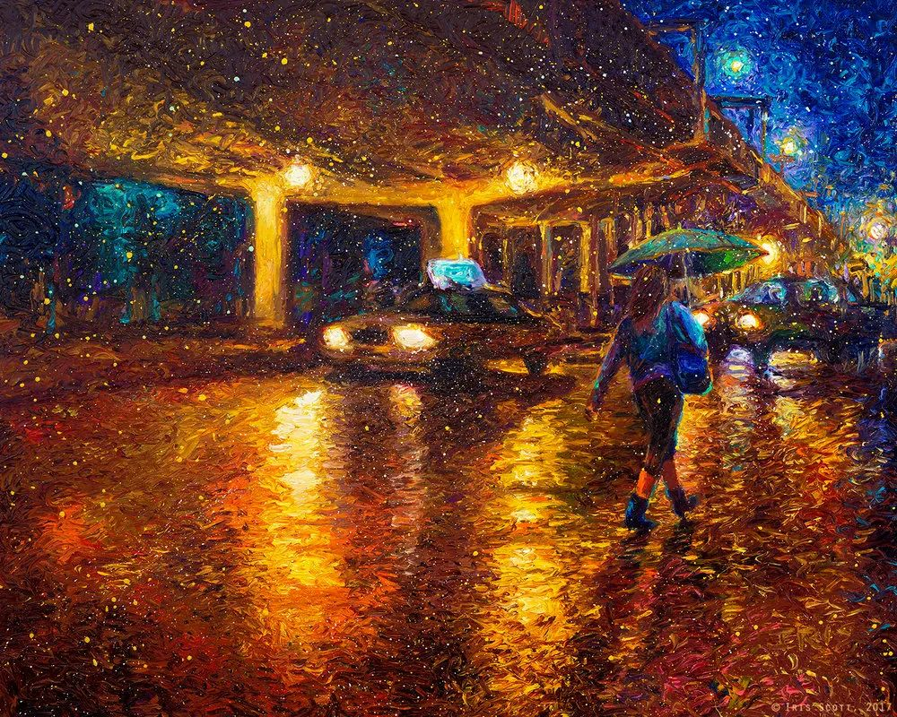 用颜料触摸这个世界!美国画家Iris Scott画选(下)——人物街景篇插图57