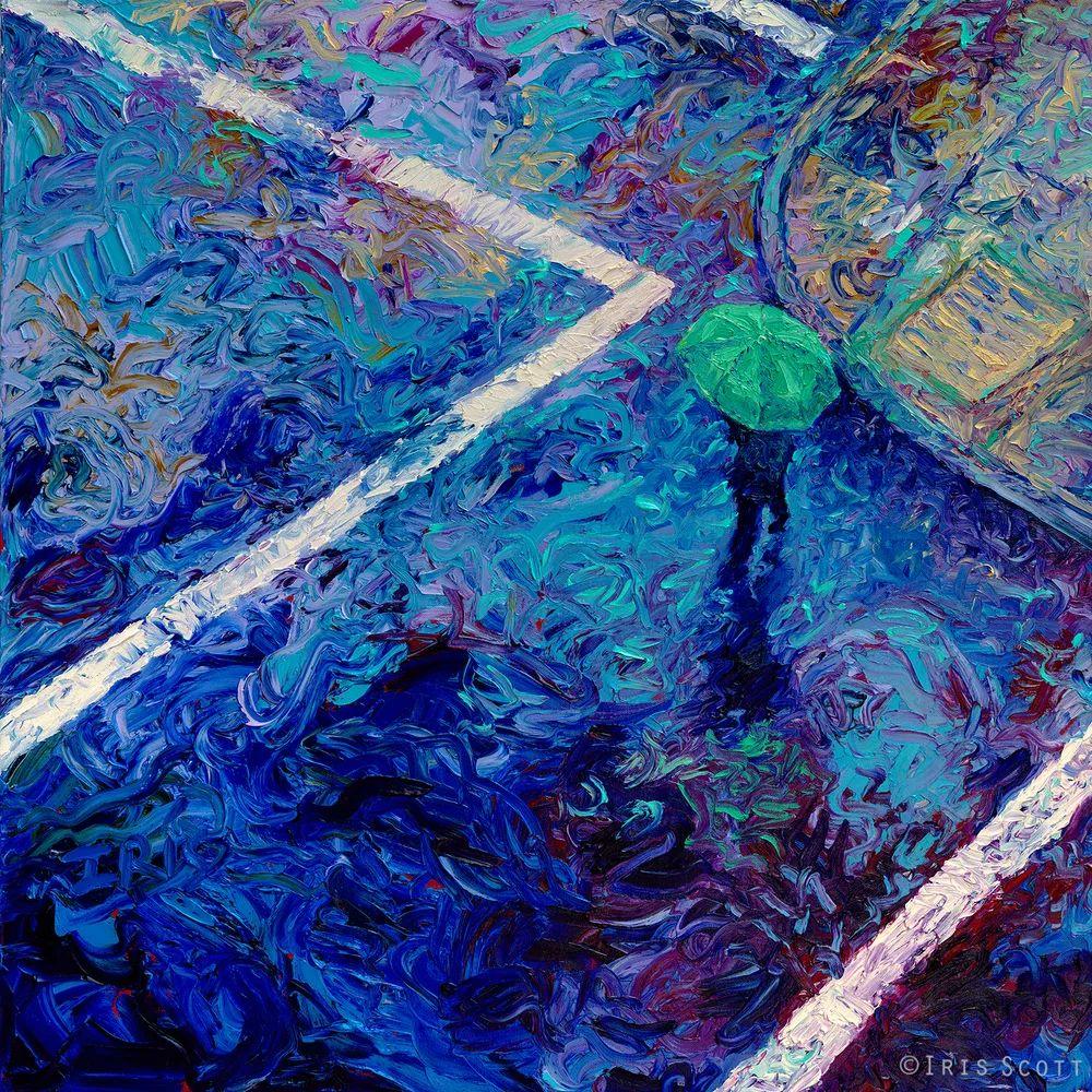 用颜料触摸这个世界!美国画家Iris Scott画选(下)——人物街景篇插图61