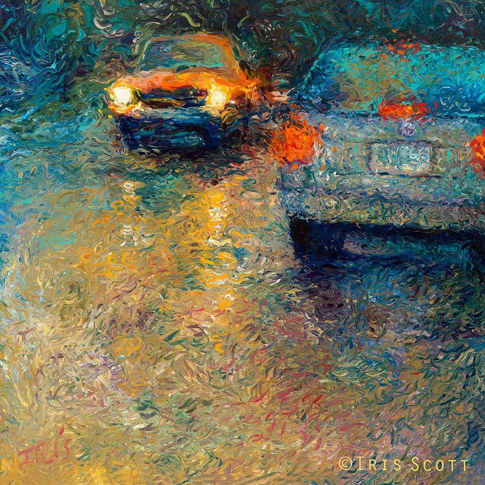 用颜料触摸这个世界!美国画家Iris Scott画选(下)——人物街景篇插图65