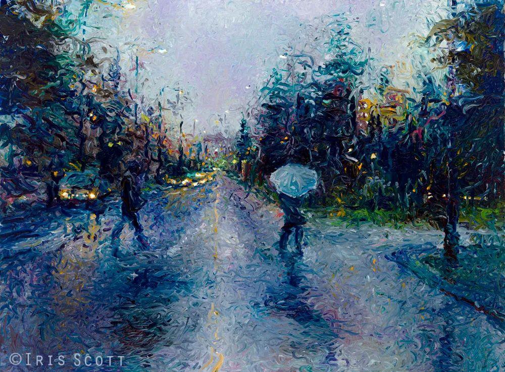 用颜料触摸这个世界!美国画家Iris Scott画选(下)——人物街景篇插图69